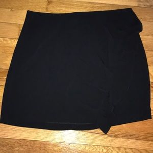 Cute black skirt with side ruffle